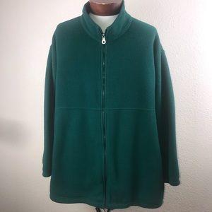 Women's Lands End Full Zip Fleece Coat 3X